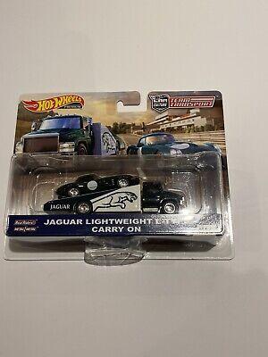 Hot Wheels Team Transport Jaguar E-Type Real Riders New & Sealed