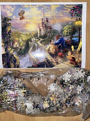 Disney Beauty And The Beast Thomas Kinkade 500 Piece Puzzle *No Original Box*