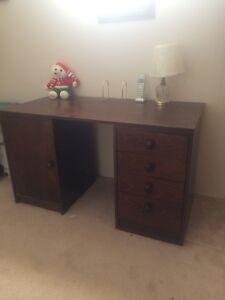 Desk & office cupboard