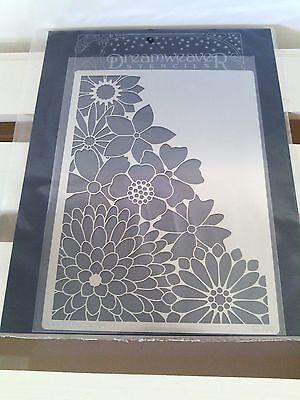 """Corner Flowers"" Metal Stencil by Dreamweaver Stencils 4-1/2"" x 6-1/4"""