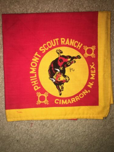 Boy Scout BSA Philmont Ranch New Mexico Uniform Red Type 2 Neckerchief
