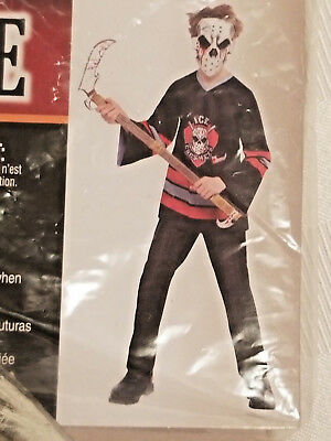 Halloween costume bloody face-off ice crushers with hockey - Crusher Halloween Costume