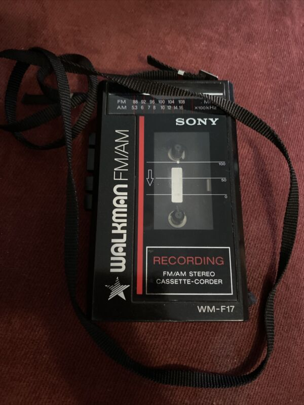 Vintage Sony Walkman WM-F17 - Cassette Recorder with FM/AM Radio