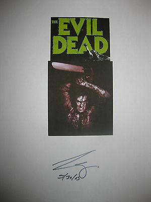 Evil Dead Signed Movie Script Bruce Campbell Original Horror Film MINT Condition