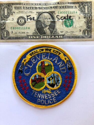 Cleveland Tennessee Police patch Un-sewn great condition