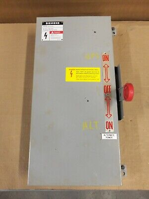 Siemens Nf352hdtk Double Throw Manual Transfer Switch 60 Amp 600v 3p Non-fuse 3r