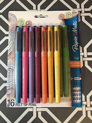 Paper Mate Flair Felt Tip Pens 0.7mm 16 Count - New