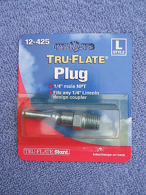 Box Of 10 Tru-flat 12-425 Air Line Compressor 14 Male Npt Hose Fitting L Style