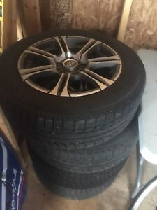 Volkswagen Momo rims and Michelin x ice winter tires