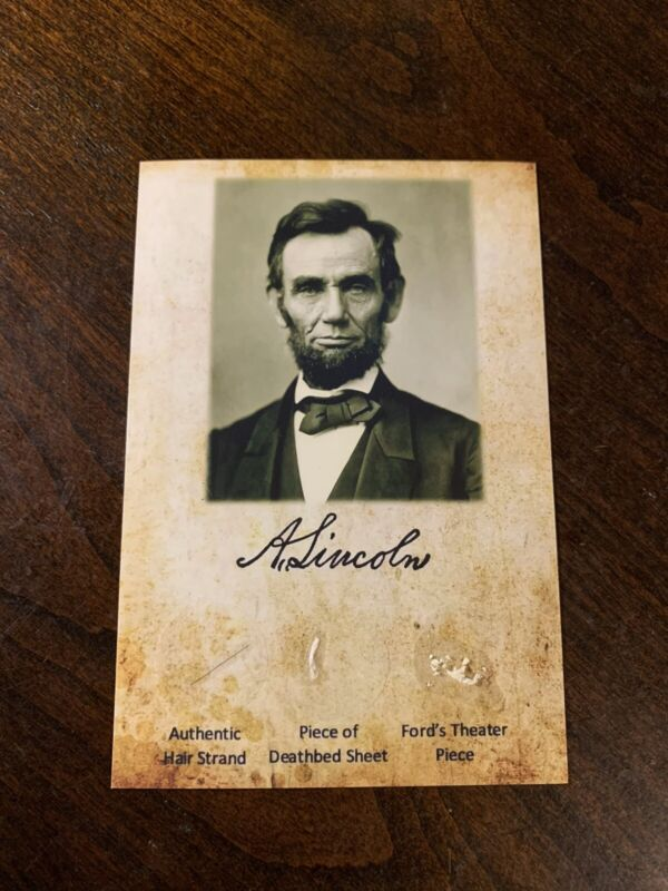 Abraham Lincoln Hair strand lock Blood Stained Deathbed Ford's Relics History