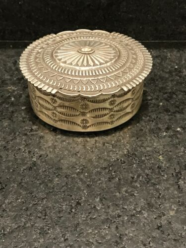 Sterling Silver Jewelry Box & Belt Buckle by Navajo Artist Sunshine Reeves