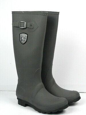 Kamik Women's Jennifer Waterproof Charcoal Rubber Rain Boots Size 7