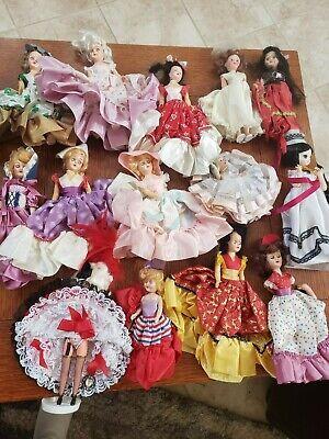 Lot of 14 Vintage Nancy Ann Storybook Bisque & Hard Plastic Dolls Clothes