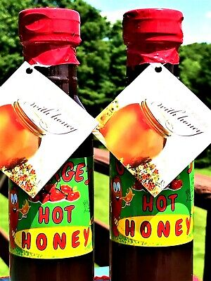 *SALE* BUY TWO 2-16oz,Hot Honey-Infused w/Chilies-Spicy Condiment,Best BBQ