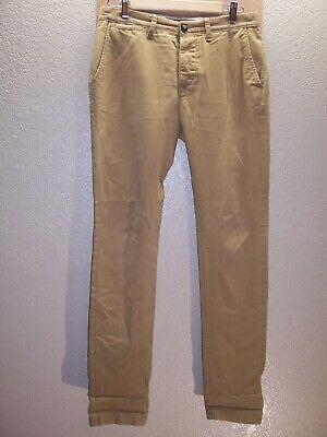 "SUPERDRY Mens S 31""W 32""L slim brown Pants Combine ship Discounts"