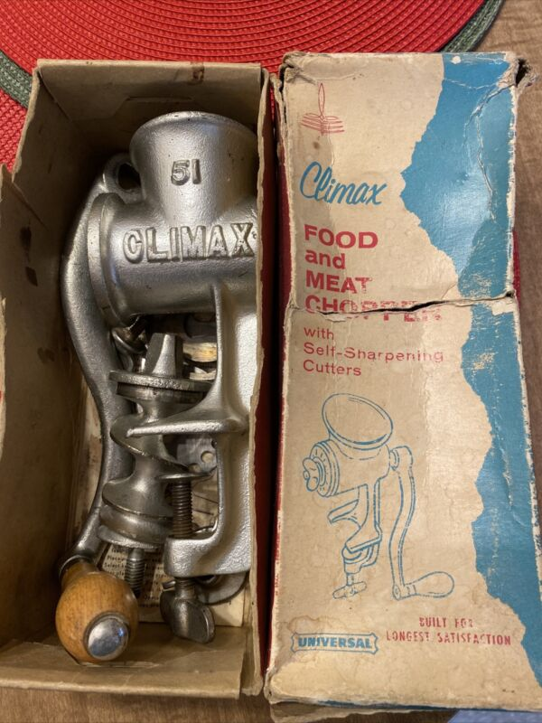 Climax Meat Grinder 51 In Box