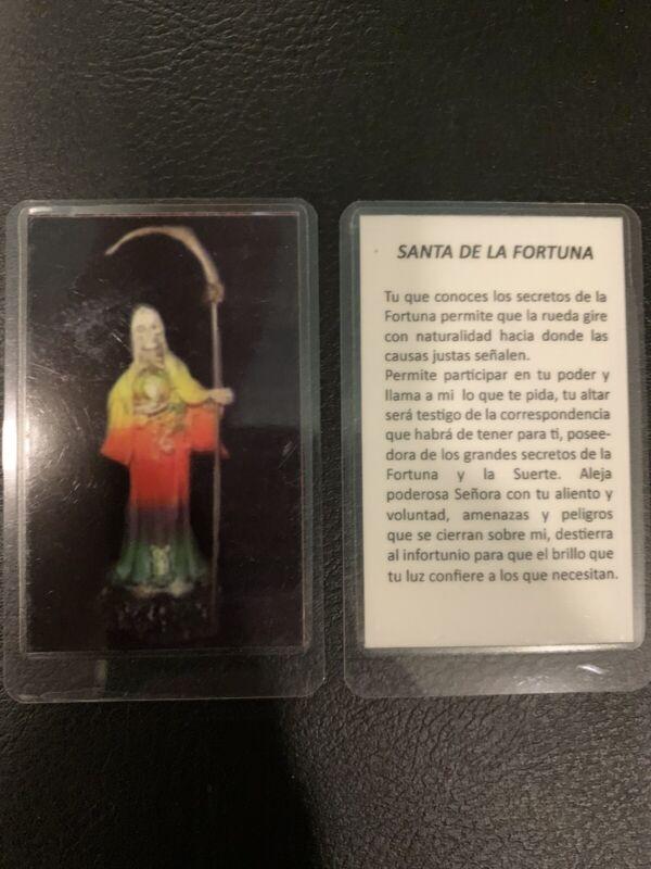 Santa Muerte  De La Fortuna- Holy Death -Fortune-Prayer Card - Laminated