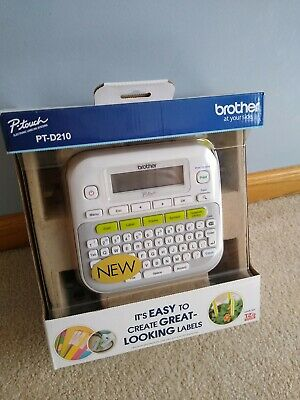 Brother Pt-d210 P-touch Easy Compact Label Maker - White