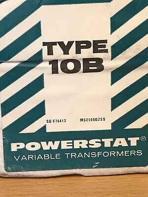Superior Electric Type 10b Powerstat Variable Transformer New Old Stock