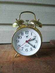 VINTAGE Equity Keywound Twin Bell Alarm Clock -PRE OWNED- LOOK!!!@@@@