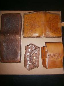 Tooled leather (vintage purses, wallet, cigarette case) Angle Park Port Adelaide Area Preview