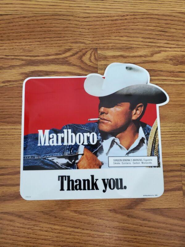 New Vintage Marlboro Cigarette Advertisement Decal Year 1989