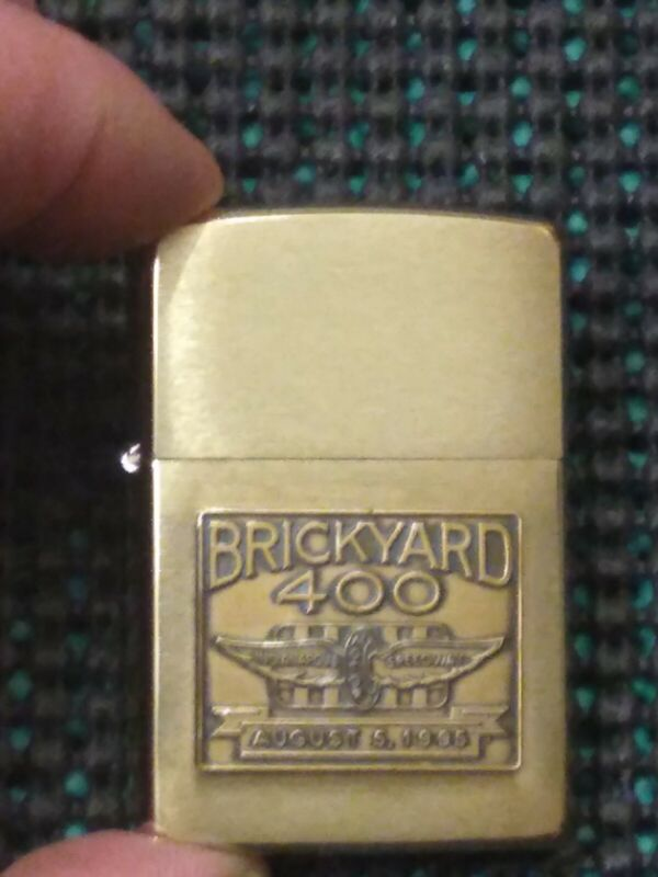 Zippo Brass Lighter Brickyard 400  August 5, 1995  W Tin