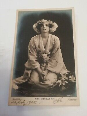 MISS GABRIELLE RAY( EDWARDIAN ACTRESS ) ~ B&W PHOTO POSTCARD POSTED 1905 for sale  Shipping to Ireland