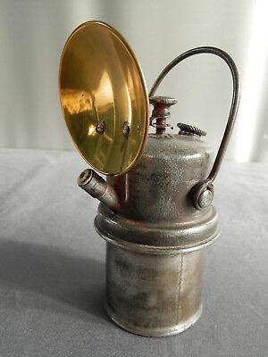Acetylen Karbid Hutlampe Hesse Grubenlampe Miners Lamp Lampe de Mines Bergbau