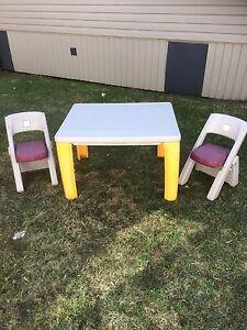 Table avec 2 chaises step 2