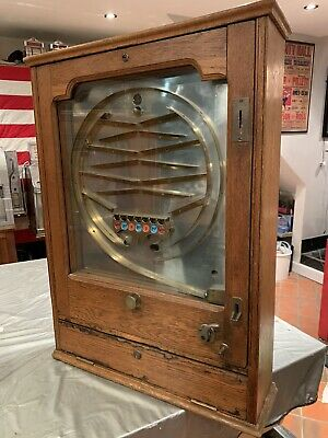 Vintage 1928 Switchback Giant Allwin Old Penny Arcade Slot Machine Pinball Skill