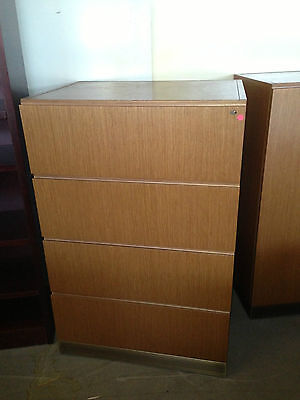 4dr Lateral File 32wx24dx49h Cabinet By Reff Office Furn Inmed Oak Color Wood