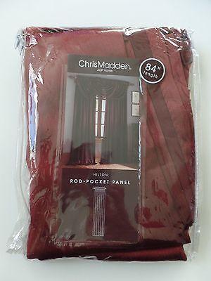 Chris Madden 54  X 84  Red Poly Hilton Rod Pocket Panel Curtain Jcp Home Nip