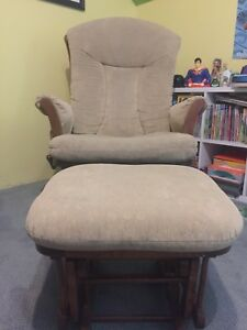 Dutailier Glider Rocking Chair & Ottoman