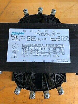 Dongan 50-0750-059 Industrial Control Transformer 0.75kva Single Phase 5060 Hz