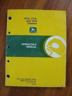 John Deere 7610 7710 7810 Tractor Operators Manual