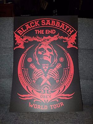 Black Sabbath Poster The End Tour Concert tour poster plus free poster 2016 tour