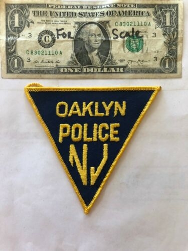 Oaklyn New Jersey Police Patch un-sewn in Great Shape