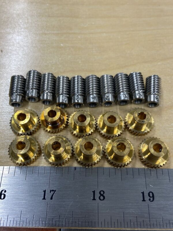 BOSTON GEAR Q-1319  WORM GEAR SET 30 TEETH 48 PITCH PREMIUM STAINLESS WORM ! !