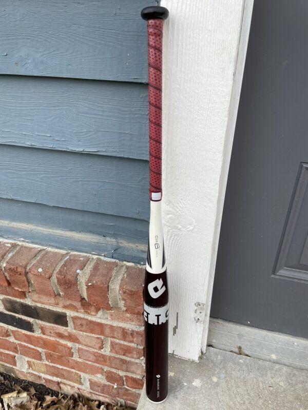 DEMARINl WHITE STEEL 34/28 Singlewall Softball Bat ASA USSSA Ex Condition