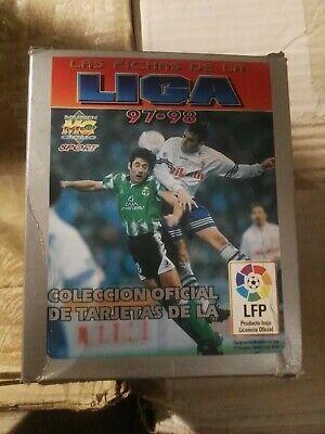 caja de 50 sobres de cromos sin abrir fichas liga mundicromo 1997...