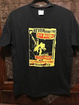 NEVER MIND THE SEX PISTOLS ~ Large ~ Chinese Text OFFICIAL 2005 T Shirt Rotten