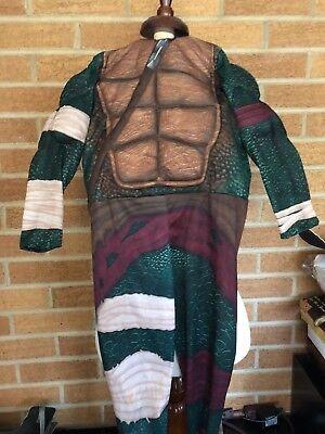 TMNT kids's 2 piece costume body suit and foam back piece Raphael](Kids Raphael Costume)