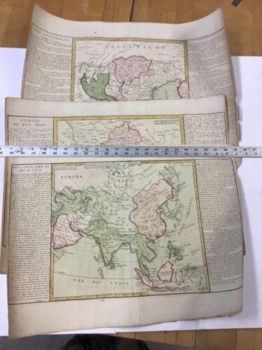 3 Jean Baptiste Louis Clouet 18th Century Maps