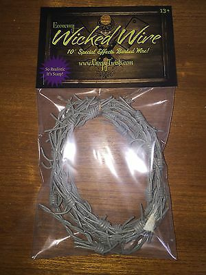 Fake Barbed Wire Halloween Prop (Wicked Wire Halloween Fake Barbed Wire Special Effects Economy 10 Foot)