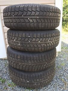 4 Winter Tires and Rims 205/70R15
