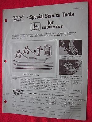 1971 For John Deere Dealers New Tractor Tire Bead Breaker Order Form Brochure