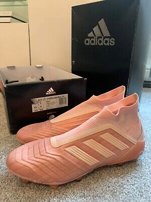 ADIDAS ACE 17+ PURECONTROL Firm Ground FG Pink SOCK Football Boots Size UK 9