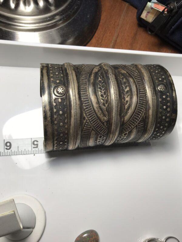 mens vintage sterling silver cuff bracelet