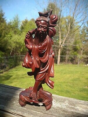 Antique Chinese Old Boxwood Hand Carved Penis door of life slingshot tool Statue